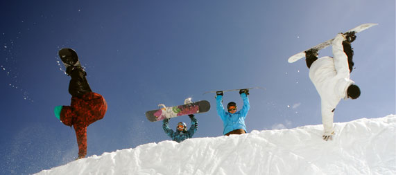 Snowboarding is fun - Photo courtesy of the 3 Valleys