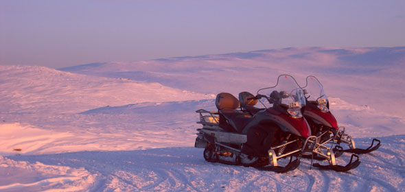 Non-skiers can enjoy snow-mobiling and other activities