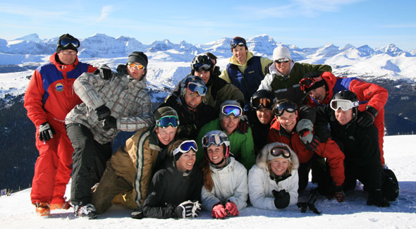 Learn to ski in a group - photo courtesy of Snow Skool