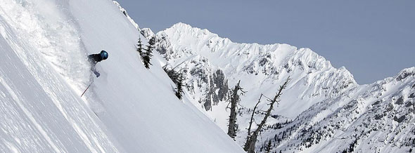 Skiing the steeps and the powder is what skier dreams of