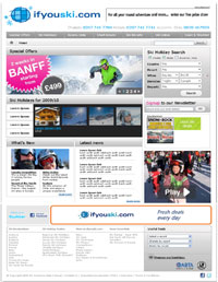 advertising on ski sites
