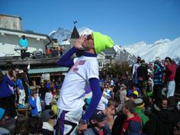 spres ski in the folie douce