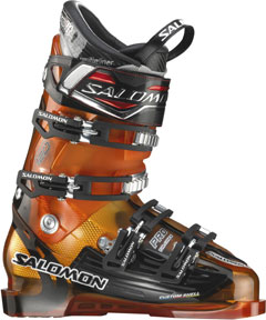 Salomon's Falcon CS Pro ski boot with their famous Custom Shell Technology