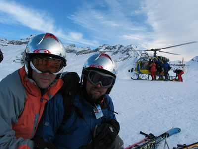 Hamish and Mark on heli-drop day!