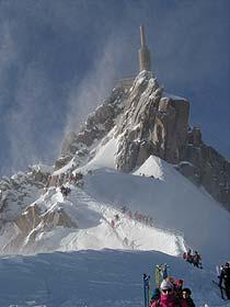 Aiguille du Midi, The arête